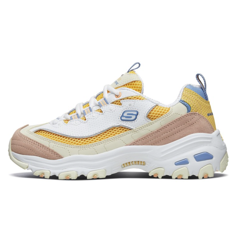 SKECHERS 斯凯奇 D'Lites 女士休闲运动鞋 13146-WYL 白色/黄色 36.5