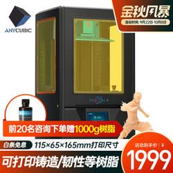 ANYCUBIC PHOTON-S 桌面级高精度光固化3D打印机+500G树脂+2张离型膜