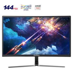 ViewSonic 优派 VX2458-C-mhd 23.6英寸VA曲面电竞显示器(144Hz、FreeSync)