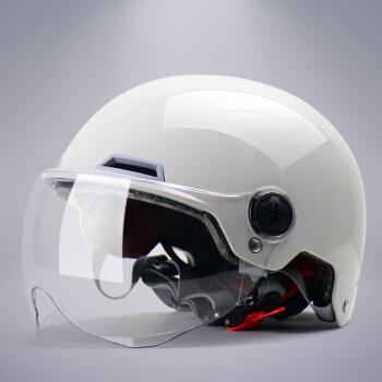 野马(YEMA)3C认证款351S电动摩托车头盔男女电瓶车安全帽四季轻便式半盔 夏季 均码 冷淡灰