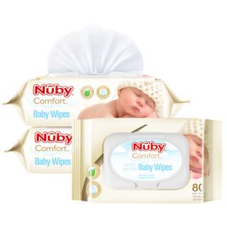 Nuby 努比  婴儿手口湿巾  80抽*6包