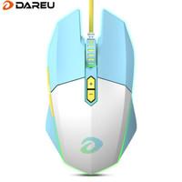 达尔优(dareu)牧马人EM910鼠标 KBS轻量化鼠标 电竞游戏鼠标 有线RGB鼠标 吃鸡鼠标 75g轻量化 冰晶蓝