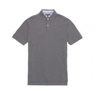 TOMMY HILFIGER 汤米·希尔费格 男士纯棉透气套头短袖POLO衫13H1867-035 灰色L (L、灰色)