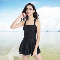 LI-NING 李宁 LSLN482B 女士裙式连体泳衣