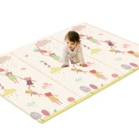 好孩子(gb)宝宝爬行垫婴儿童爬爬垫环保XPE折叠爬行垫加厚爬行毯泡沫地垫儿童爬行垫 单面手拉手量身高 *3件