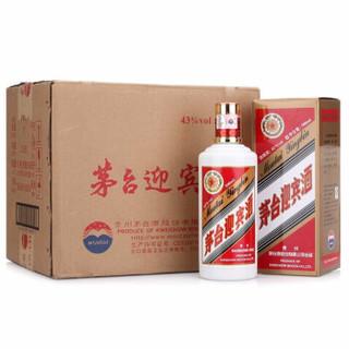 茅台 迎宾 43度  白酒 500ml*6瓶 整箱装 口感酱香型