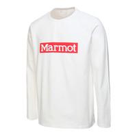 Marmot/土拨鼠春夏新款户外男士柔软舒适弹性长袖棉T恤