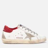 Golden Goose Deluxe Brand Superstar 麂皮拼接红尾星星小脏鞋