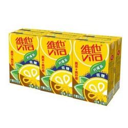 维他奶 维他低糖柠檬茶250ml*6盒  茶饮料整组 *11件