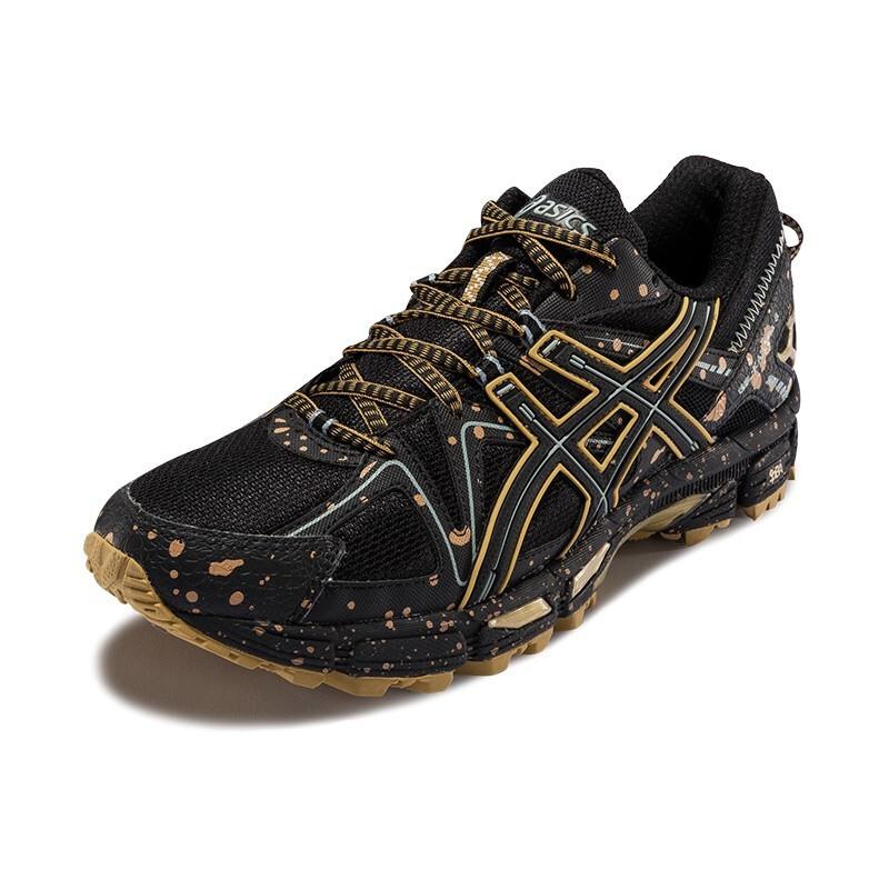 ASICS 亚瑟士 Gel-Kahana 8 男士跑鞋 1011B109 黑色/金色 41.5