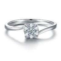 SHINING HOUSE 钻石世家 WR0443-004 18K金 钻石戒指 女款 扭臂款