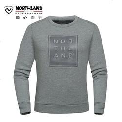 诺诗兰(NORTHLAND)户外休闲防风保暖圆领套头印花长袖卫衣