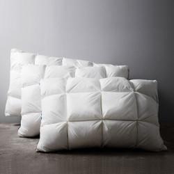 DAPU 大朴 抗菌鹅毛格子面包枕 单只装 本白 48*74cm
