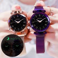 唐属  时尚星空吸铁石手表  紫色手表