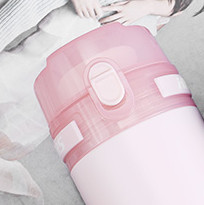 HAERS 哈尔斯 臻轻系列 LD-500-50 不锈钢保温杯 500ml 水粉色