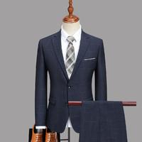 TEDELON 太子龙 2-TZL-028A 男士 格纹西装两件套 外套+裤子