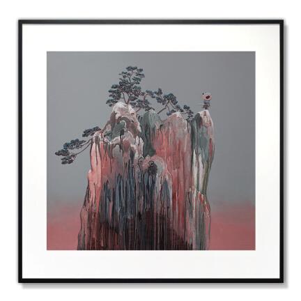 艺术品:陈万毅油画《少年壮志之剑在手》 数位版画 复刻装饰画艺术收藏 背景墙装饰