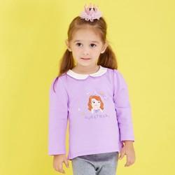 春秋女童衣服迪士尼宝宝童装儿童长袖上衣T恤外出服