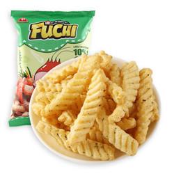 百草味 海苔味FUCHI富吃虾条40g/袋 泰国进口网红休闲零食膨化薯片非油炸 *12件