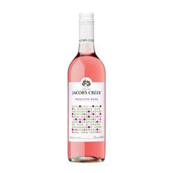 杰卡斯(Jacob's Creek) 波点系列 莫斯卡托桃红葡萄酒 750ml 单瓶装 澳大利亚进口红酒 *4件