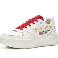 361° 鼠年生肖系列 女士运动板鞋 682016605 羽毛白/F1红 37