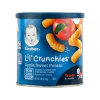 嘉宝(Gerber)美国进口宝宝零食 儿童零食手指磨牙泡芙条 苹果甜薯味 42g(8个月以上适用)+凑单品