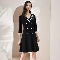 衣香丽影 DSY0082ZZ202 西装领七分袖连衣裙