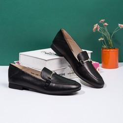 SATCHI 沙驰 女士头层牛皮革圆头平底单鞋