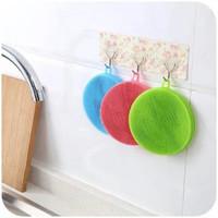 多功能硅胶刷洗碗布不沾油厨房抹布吸水洗碗神器刷碗百洁布 1个装
