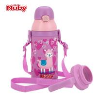 努比(Nuby)宝宝保温杯吸管杯带手柄背带2用儿童水杯保温学饮杯 羊驼