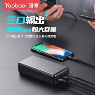 羽博(Yoobao)30000毫安超大容量快充18W充电宝超级快充22.5W移动电源 10W经典版