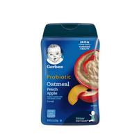 美国原装进口嘉宝有机高铁营养米粉 227g/罐 蜜桃苹果益生菌米粉 1罐 *5件
