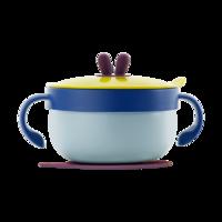 贝恩施宝宝注水碗保温碗勺套装儿童辅食碗防摔防烫餐具婴儿吸盘碗