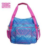 DDC 蓝紫几何组多功能单肩包手提包 女包