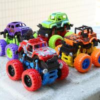 惯性越野四驱玩具车男孩2-6岁汽车模型仿真车模大脚四驱车 颜色随机发货 2只装-越野四驱车