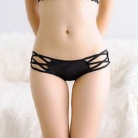女士内裤性感蕾丝无痕3D蜂巢暖宫镂空提花透视低腰中腰包臀三角裤