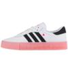 adidas Originals 运动生活系列 Sambarose w 女士运动板鞋 EF4965 亮白/一号黑色/休克红 36