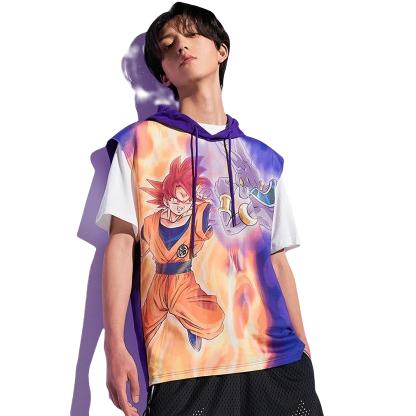 ANTA 安踏 龙珠超联名系列 男士运动T恤 152011192 紫水晶 M