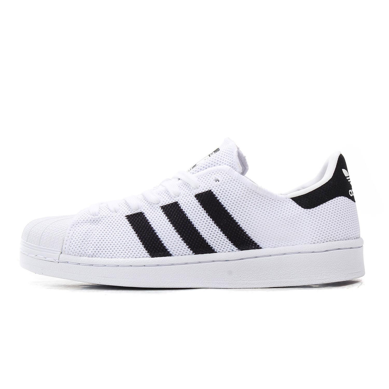 adidas Originals Superstar 中性休闲运动鞋 BB2236 白黑 44.5