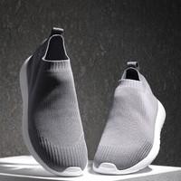 京东京造 一体飞织袜套男士休闲鞋