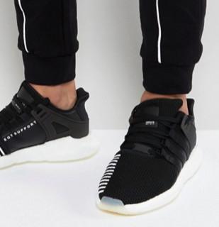 adidas Originals 阿迪达斯 EQT Boost Support 93/17 男士跑鞋 BZ0585 黑色 39