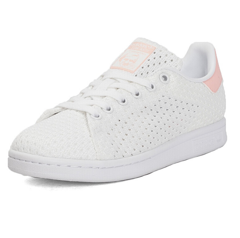 adidas Originals STAN SMITH 女士休闲运动鞋 S82256 米色/淡粉 38