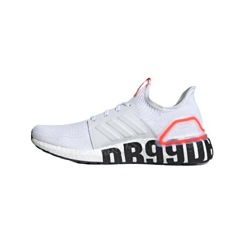 adidas 阿迪达斯 Ultra Boost 19 中性跑鞋 FW1970 亮白/红荧光 41
