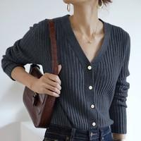 唯品尖货:dme 德玛纳 020357007051 女士薄款长袖针织衫 *2件