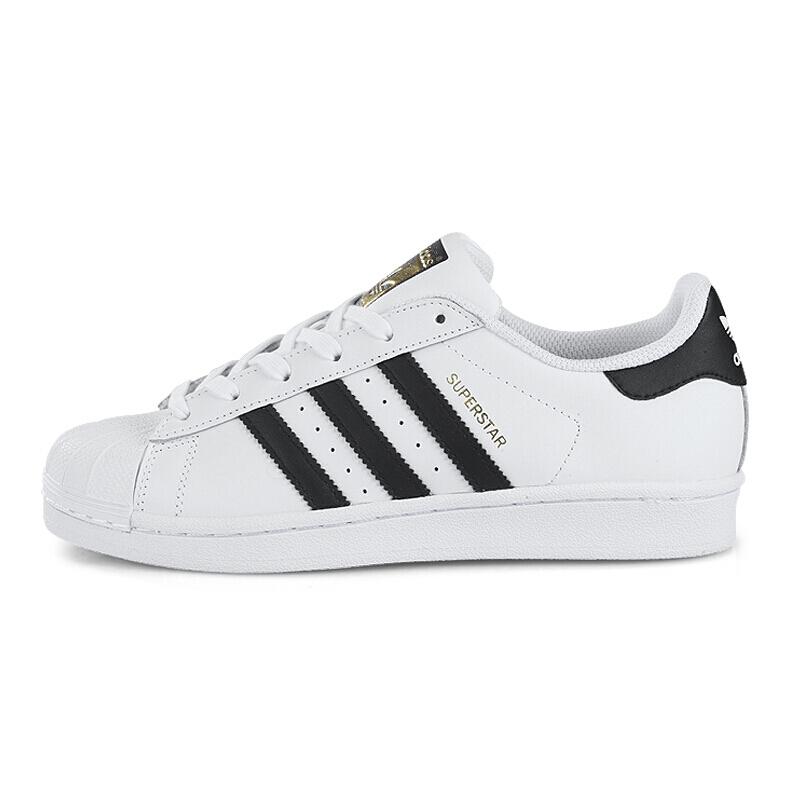adidas Originals SUPERSTAR系列 女士运动板鞋 FU7712 黑/白 37