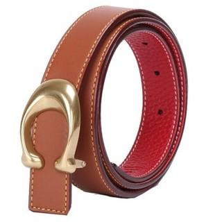 COACH 蔻驰 女士双面板扣皮革腰带40119 B4OH2 棕色配红棕色104cm