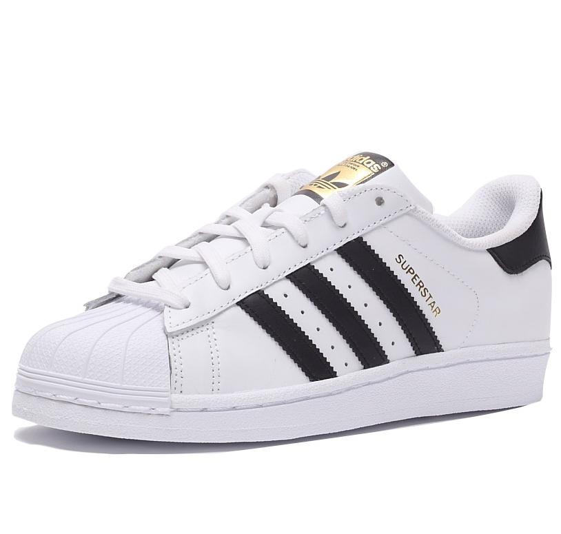 adidas Originals SUPERSTAR 女士休闲运动鞋 C77153 白色/黑色/金色 38