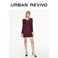 UR2020春季新品女装时尚优雅气质X型连衣裙WG03S7EN2002