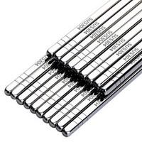 唐宗筷 中式经典 304不锈钢筷子 10双装