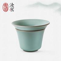 东道 汝窑茶漏陶瓷茶滤尼龙布过滤网茶具配件 开片可养金线 *3件